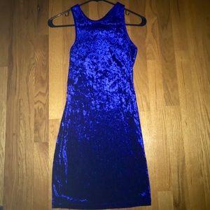 Forever 21 Blue Velvet Dress